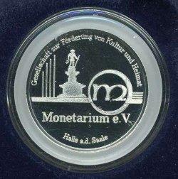 Logo Monetarium auf Medaille